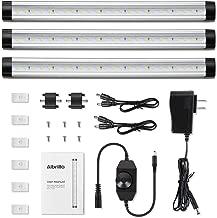 Albrillo LED Under Cabinet Lighting, Dimmable Under Counter Lighting, 12W 900 Lumens, Warm White 3000K Kitchen Cabinet Strip Lights, Pack of 3