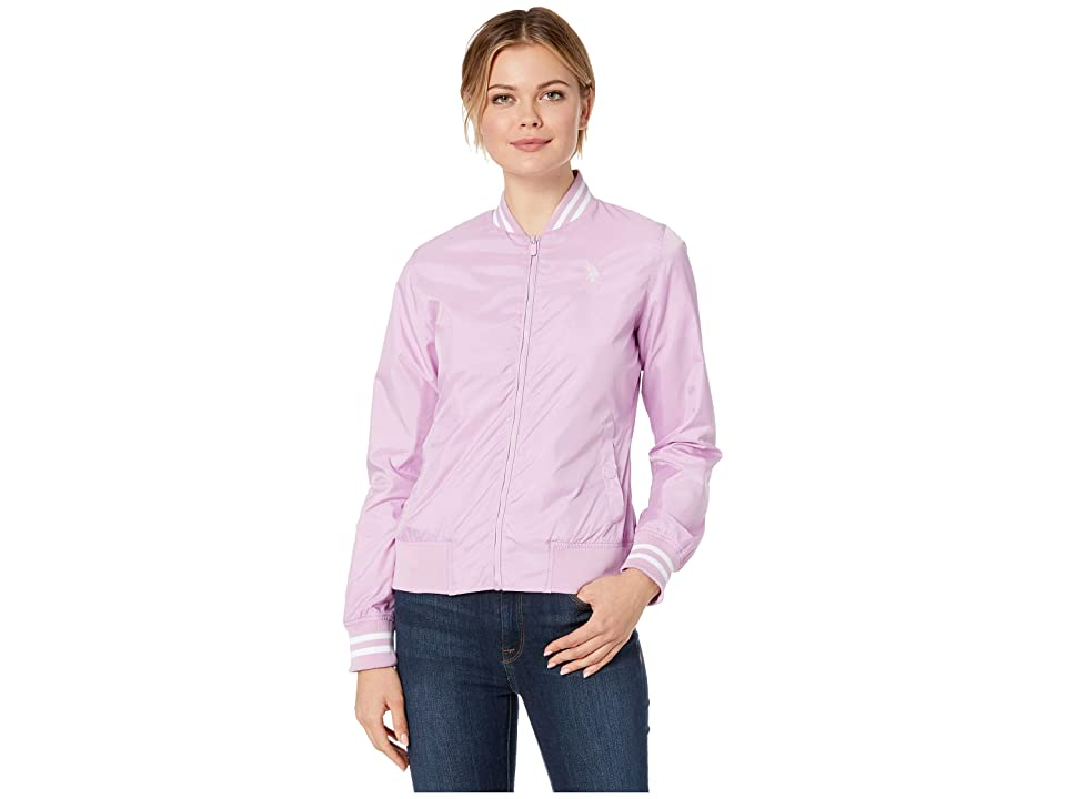 U.S. POLO ASSN. Baseball Jacket (Lavender) Women