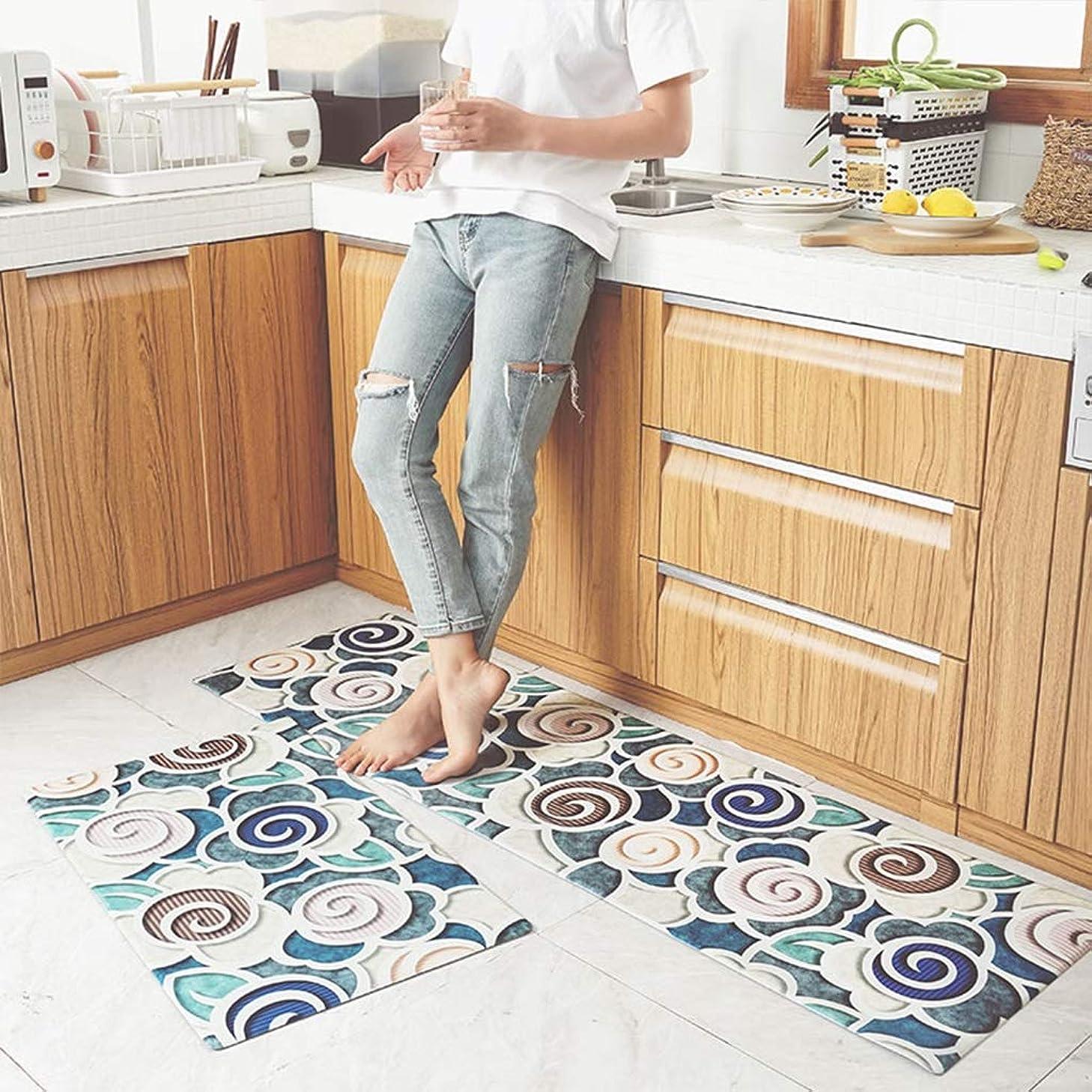思慮のないコンテンツチューリップRBZCCP キッチンマット家庭用滑り止めオイル防止防水マットカーペット (Color : C)