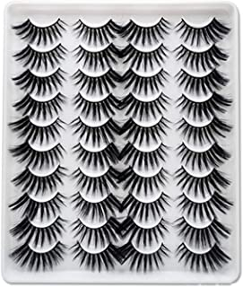 20 Pairs Faux Mink Hair False Eyelashes Natural Eyelashes Extension 9