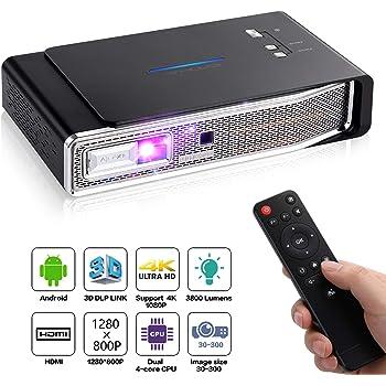 Mileagea DLP Proyector Mini Pico Portátil 1080P Full HD con ...