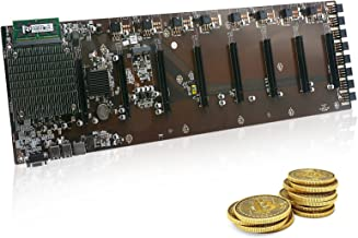 مادربرد MLLIQUEA B85 Mining، 8 شکاف GPU و 65 میلی متر سیستم ماشین آلات معدن بزرگ ، مادربرد CryptoCounter Miner Barebone برای BTC/ETH/ZEC با SSD ، RAM