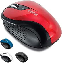 iHome Ergonomic Wireless Desktop Mouse with Scroll Wheel and 2 Buttons (Mac and PC Compatible) (Red)