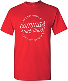 Commas Save Lives Basic Cotton T-Shirt