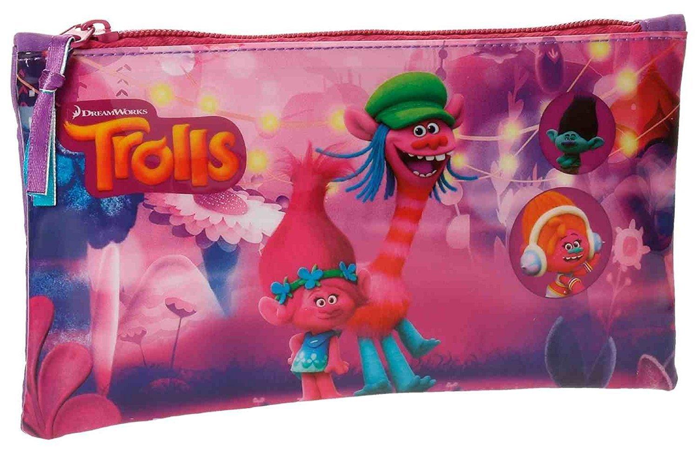 Trolls-4824051 Estuche portatodo, Color Rosa, 22 cm (Joumma 48240): Amazon.es: Juguetes y juegos