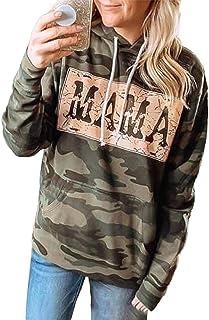 PKYGXZ Suéter para Mujer con Estampado de Letras, Jersey con Capucha, Sudadera, Tops, Camiseta Informal de Manga Larga par...