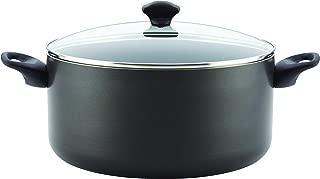 Farberware 16716 Promotional Dishwasher Safe Nonstick Stock Pot/Stockpot with Lid, 10.5 Quart, Black