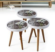3 طاولات متدرجة الحجم بتصميم معتق