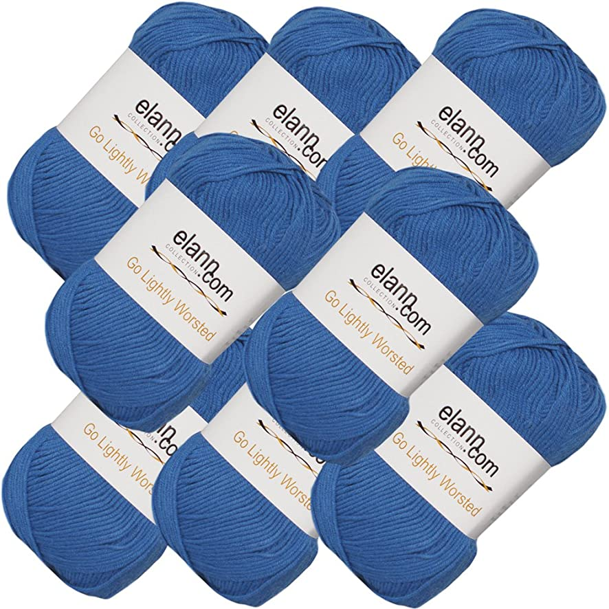 elann Go Lightly Worsted Yarn | 8 Ball Bag | 15 Imperial Blue
