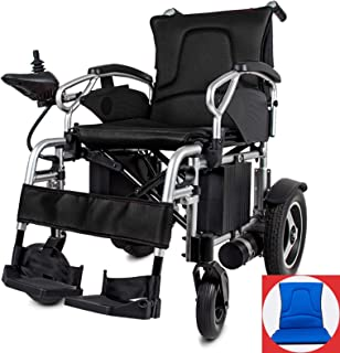 ZWYSL Los Cojines Ligeros para sillas de Ruedas eléctricas Silla de Ruedas de Viaje Plegable para niños, Ancianos y discapacitados (Color : Blue)