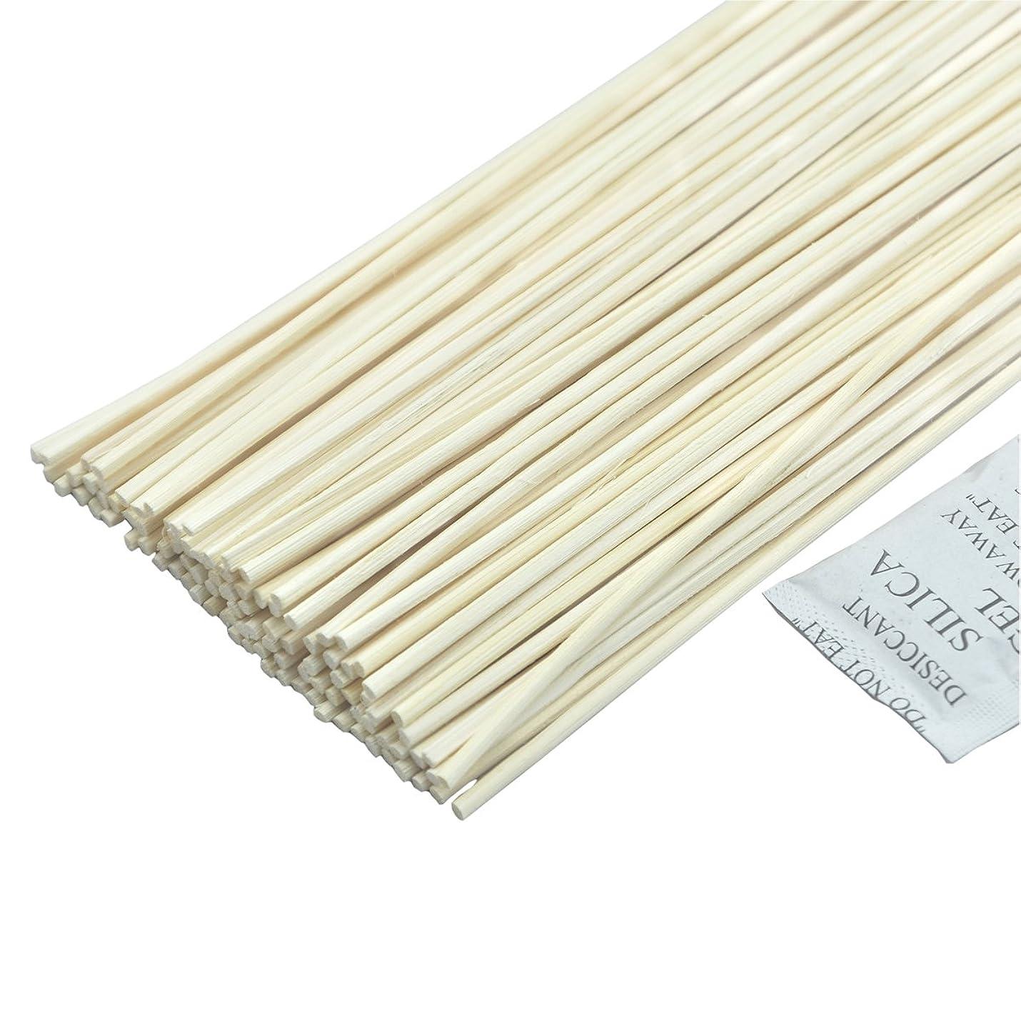 慢性的相互接続一定100本入ナチュラルカラー 籐のリードアロマディフューザーの交換用スティック (30cmx3mm)