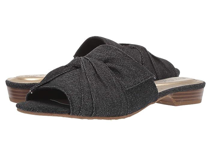 Soft Style Misti (Black Denim) Women's Sandals