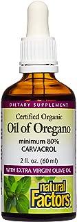 Natural Factors, Certified Organic Oil of Oregano, Herbal Supplement for Immune Support, Vegan, Non-GMO, 2 oz (375 servings)