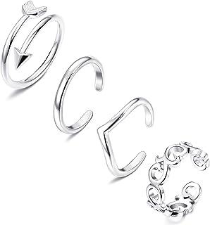 FIBO STEEL 3-9 Pcs Open Toe Rings for Women Girls Arrow Tail Band Toe Ring Adjustable …