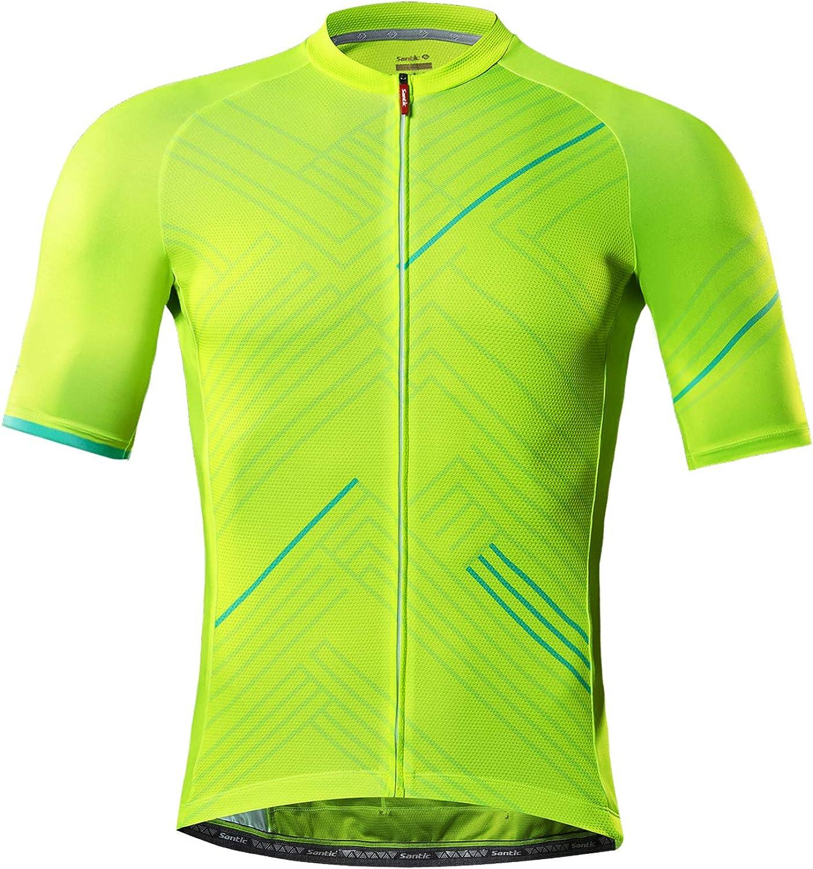 Santic Cycling Jersey Men's Short 買い物 Sh Biking Tops Sleeve 通販 Mountain