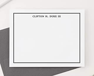 Mens Personalized Stationery Set for Boys, Boys Personalized Thank you Notes, Mens Personalized Note Cards, Mens Stationary Set, Your Choice of Colors and Quantity