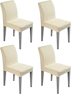 JELLYMONI Dining Chair Slipcovers (4, Khaki)