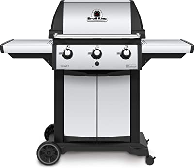 Broil King 946854 Signet 320 Propane Gas Grill, Stainless Steel & Black