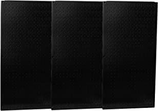 product image for Wall Control - 35-P-3248BK - Steel Pegboard Panel with 600 lb. Load Capacity, 32H x 48W, Black, 1 EA