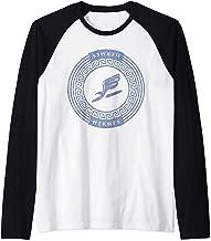 Greek God Shirt Hermes Winged Sandal Messenger Raglan Baseball Tee