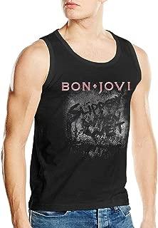 Bon Jovi 'Slippery When Wet Album' Man's Running Sleeveless Tank Vest T Shirts
