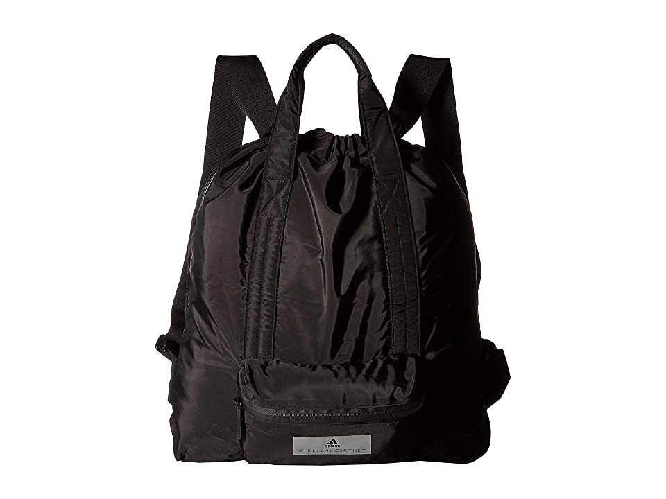 adidas by Stella McCartney Gym Sack (Black/Black) Backpack Bags