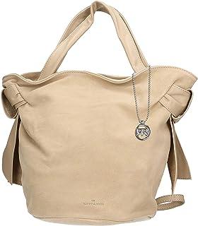 Roberta Rossi Outlet borsa shopper da donna in vera pelle Scamosciato fatta a mano in Italia, 21x28x21 cm. Made in Italy R...