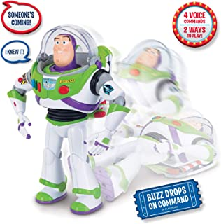 Toy Story Disney Pixar 4 Buzz Lightyear with Interactive Drop-Down Action