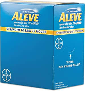 Aleve BXAL50 Pain Reliever Tablets 50 Packs/Box