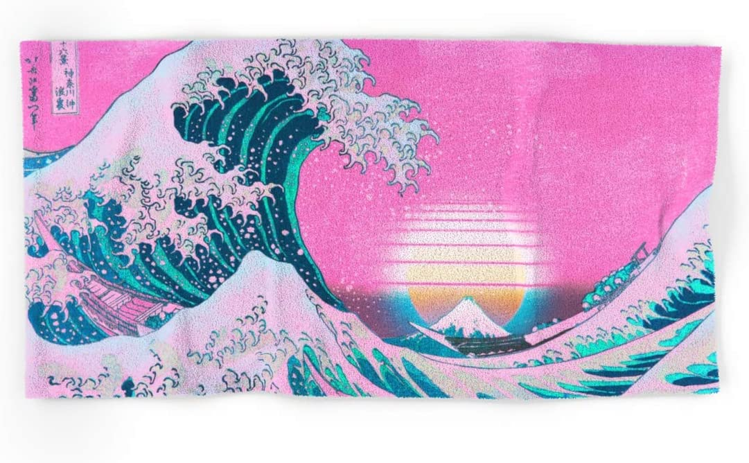 Vaporwave Aesthetic favorite Great Wave Off Kanagawa Synthwave by Sunset Gifts