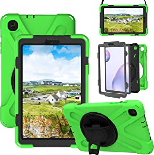 Galaxy Tab A 8.4 Case 2020,Litchi SM-T307 Rugged Case with 360 Degree Rotatable Hand Strap, Built-in Kickstand/Shoulder St...