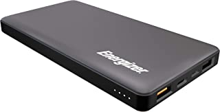 Energizer 10000mAh Lithium Polymer Power Bank, Dual Output, Dual Input, Quick Charge 3.0, Total Output: 18 Watts