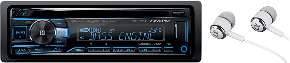 Alpine CDE-175BT Single DIN Bluetooth in-Dash CD Front USB & Auxiliary MP3 ID3 Tag..