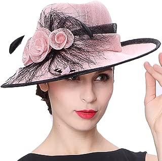 Koola's hats Women 3 Layers Sinamay Kentucky Derby Church Sun Summer Hats