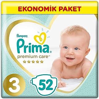 Prima Bebek Bezi Premium Care, 3 Beden, 52 Adet, Midi Jumbo Paket