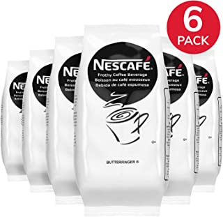 Nescafe Coffee, Butterfinger Cappuccino Mix, Instant Flavored Coffee, 32-Ounce Bags (Pack of 6)