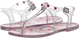 Transparent PVC Sandal with Heart Detailing