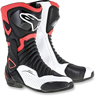 Alpinestars SMX-6 V2 Vented Street Boots-Black/Red Flo/White-44