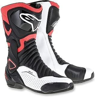 Alpinestars SMX-6 V2 Vented Street Boots-Black/Red Flo/White-42