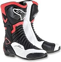 Alpinestars SMX-6 V2 Vented Street Boots-Black/Red Flo/White-44