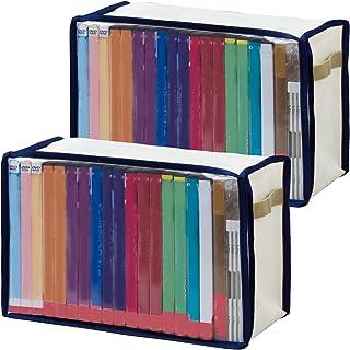 アストロ DVD収納ケース 2枚組 透明窓付き 積み重ねできる 609-05