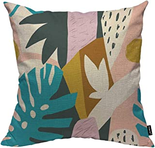 Brightly coloured African print cushion in blue decorative white and red