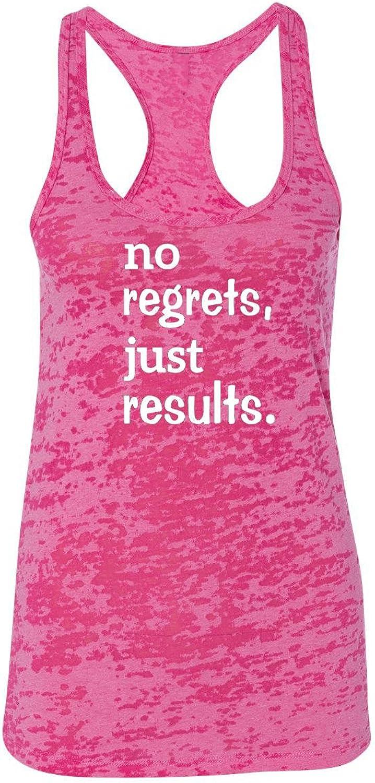 orange Arrow Womens Workout Tanks  No Regrets Just Results  Crossfit Tank Tops by Echona Apparel