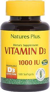 Nature's Plus Vitamin D3 1000 IU, softgels, 180ct