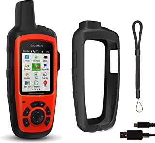 Garmin inReach Explorer+ Hiking GPS Bundle (+1 Month Free Satellite Subscription) | with PlayBetter Protective Silicone Case & GPS Tether Lanyard | Belt Clip, Carabiner Clip | GEOS, Weather, Messaging