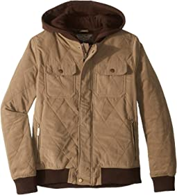 Augustine Quilted Microfiber Bomber Jacket w/ Hoodie (Little Kids/Big Kids)