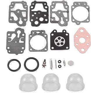 Harbot Carburetor Diaphragm Gakset Rebuild Kit Primer Bulb for K20-WYL Echo GT1100 2101 GTB1100 2101 CS221 HC1001 753-1225 753-04296 WYL-240-1 WYL-242-1