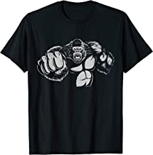 Gorilla T-Shirt Gym Workout Muscle Building Fight Boxing Tee