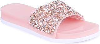 WMK Fashionable Flipflop Slides Flats for Women
