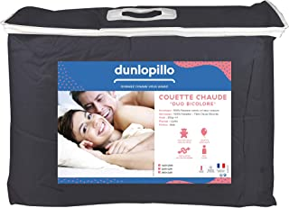 Dunlopillo Duvet Cover, Anthracite and Light Grey, 240 x 260 cm